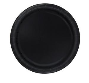 "MID BLACK 16 x 9"" PAPER PLATES"