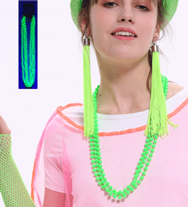 *3PK NEON NECKLACE-GREEN