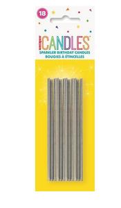 18 SILVER SPARKLER CANDLES