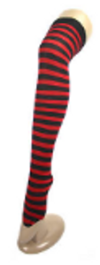 Over Knee Stockings (Red with Black)