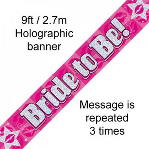 BANNER 2.7M BRIDE TO BE
