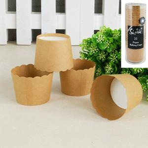 *25pk Brown Kraft Paper Baking Cups