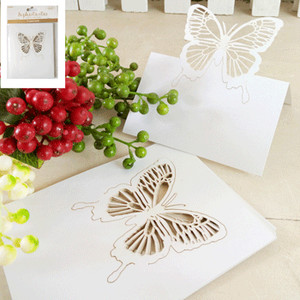 *12pk Delicate Die Cut Butterfly Place Cards