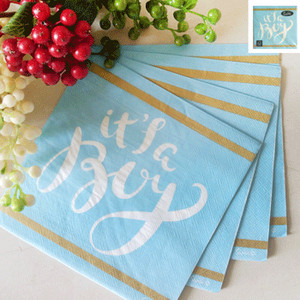 *16pk 33x33cm Baby Shower Lunch Napkin in Blue