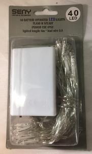 Battery Light - 40 LED Warm White Battery Fairy