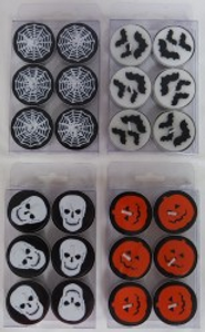 6 HALLOWEEN TEA LIGHT CANDLE A