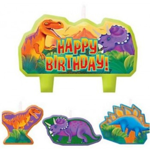Prehistoric Dinosaurs Candle Set Happy B