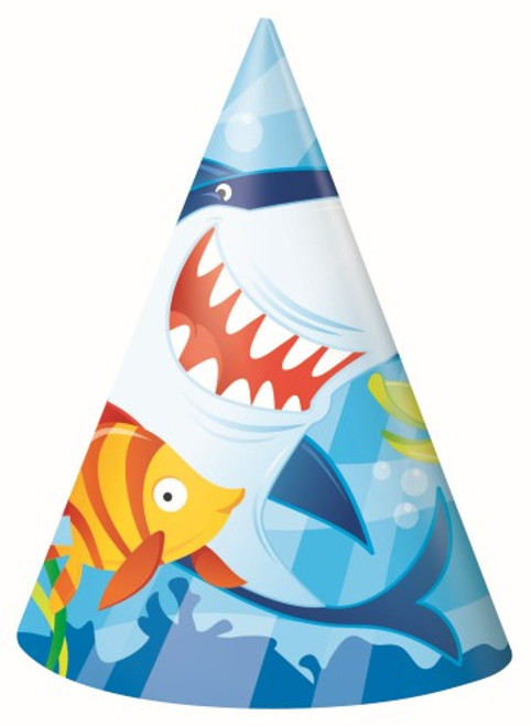 FIN FRIENDS 8 PARTY HATS