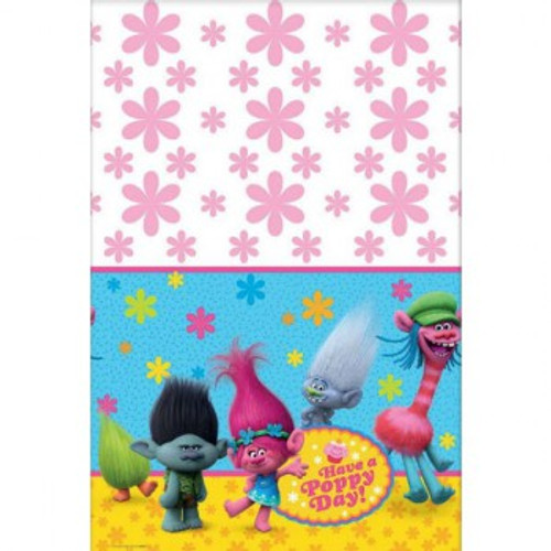 Trolls Tablecover Have a Poppy Day! Plas