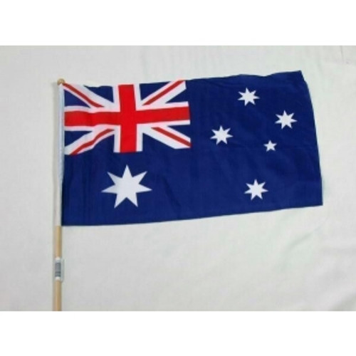 15 x 30cm  AUSTRALIAN FLAG ON STICK
