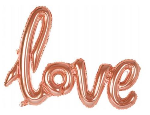 BALN FOIL 59CM LOVE ROSE GOLD