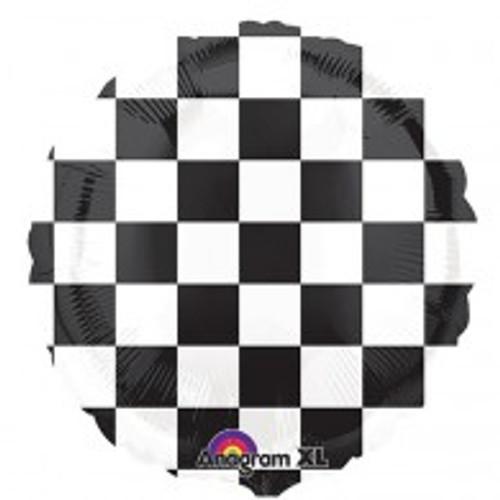 45cm Checkerboard Design Black & White