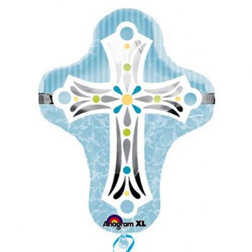 Shape Blue Religious Cross