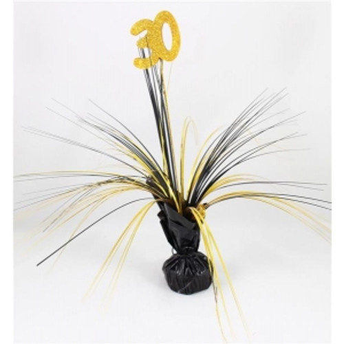 AGE 30 BALLOON WEIGHT W/BLACK & GOLD