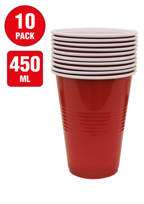 10pk American Red Cup 450ml