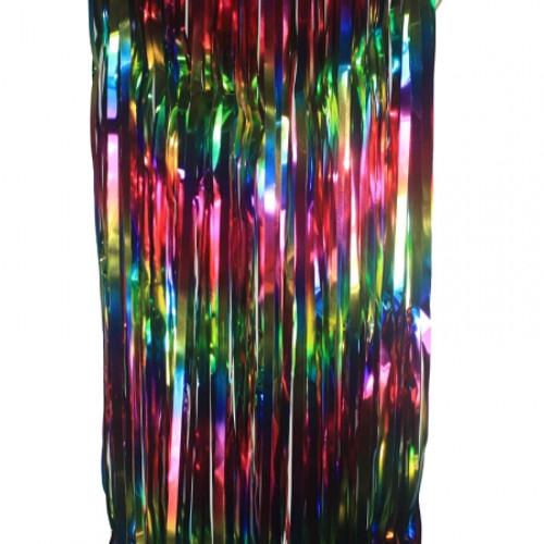 FS Metallic Curtains 90x 200cm - Multi