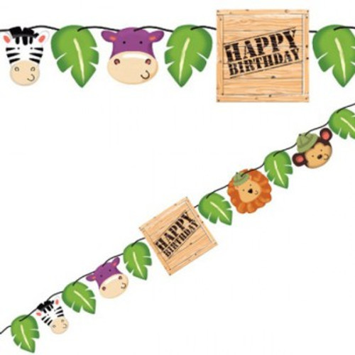 Safari Adventure Shaped Ribbon Banner