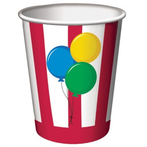 Circus Time Party Cups Paper Hot/Cold