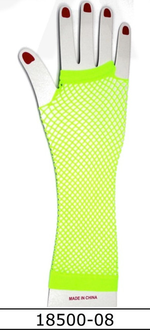 Fishnet Glove (Long) (Green)