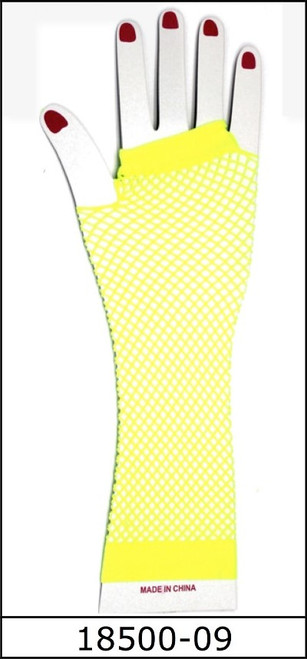Fishnet Glove (Long) (Yellow)