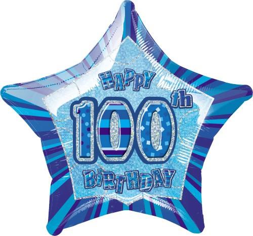 GLITZ BLUE STAR FOIL BLN - 100