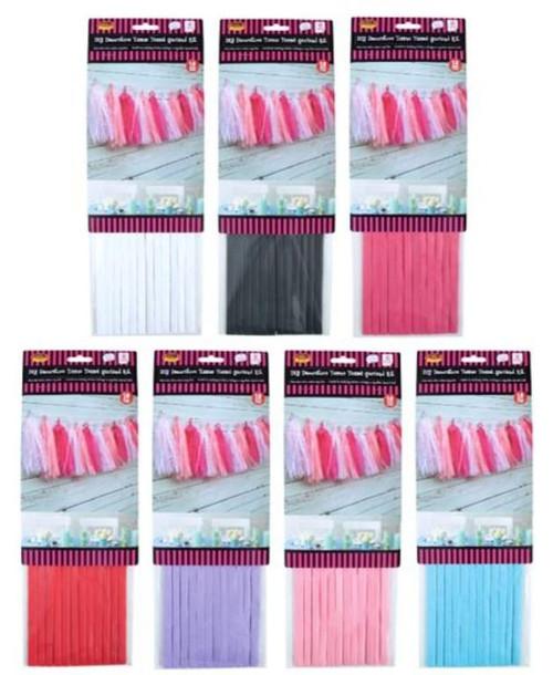 DIY Decorative Tissue Tassel Garland Kit