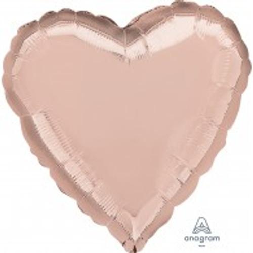 45cm Heart Rose Gold Foil Balloon