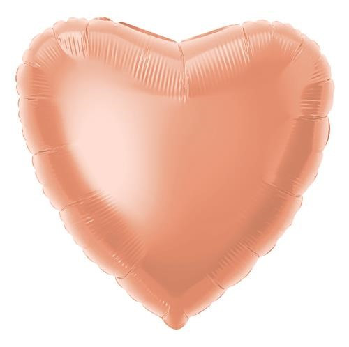 "R/GOLD HEART 18"" FOIL BLN PKG"