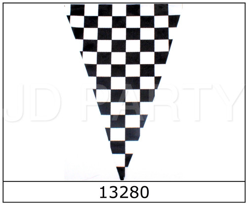 Checkered Bunting Flag (Triangle) 10pcs