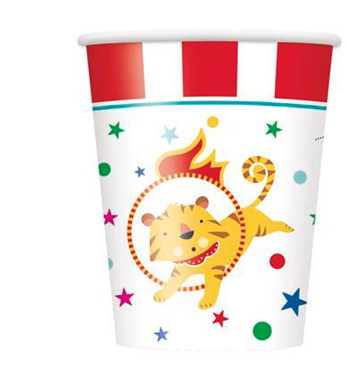 CIRCUS CARNIVAL 8 x 9oz CUPS