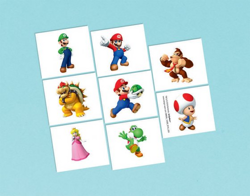 Super Mario Bros Tattoo Fav