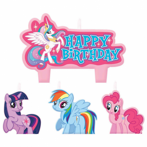 MLP Friendship BDAY Candle Set