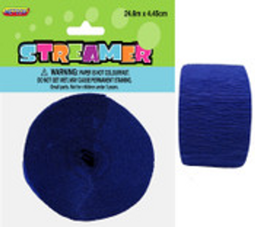 CREPE STREAMER- TRUE NAVY BLUE