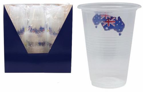 8pk Australian Flag Cups 450ml