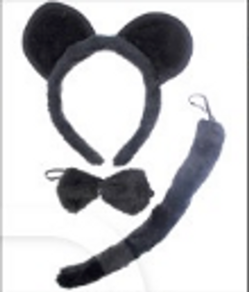 Animal 3pcs Set (Black Mouse)