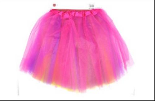 Tulle Ballerina Tutu (S) (Mixed Colour Pink, Purple, Yellow)