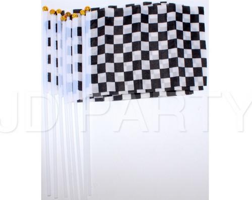 Checkered Hand Signal Flag (14 x 21cm) 8pcs