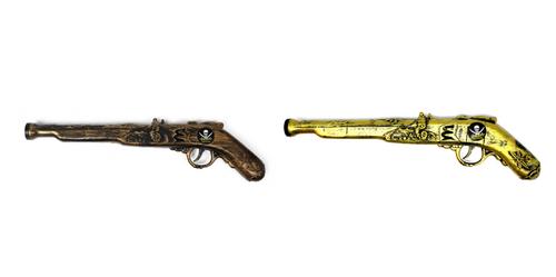 Pirate Gun (Gold + Copper Mixed)