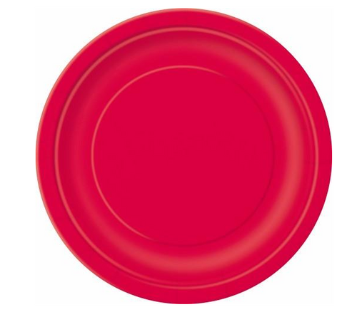"""RUBY RED 16 x 9"""" PAPER PLATES"""