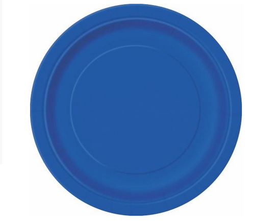 "ROYAL BLUE 20 x 7"" PAPER PLATE"