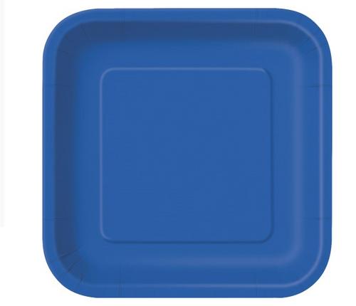 "ROYAL BLUE 14x9""SQPAPER PLATES"