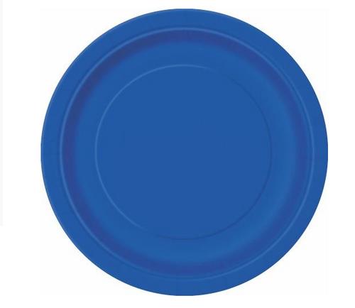 "ROYAL BLUE 16 x 9"" PAPER PLATE"