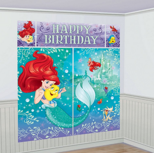 Ariel Scene Setter Wall Decorating Kit
