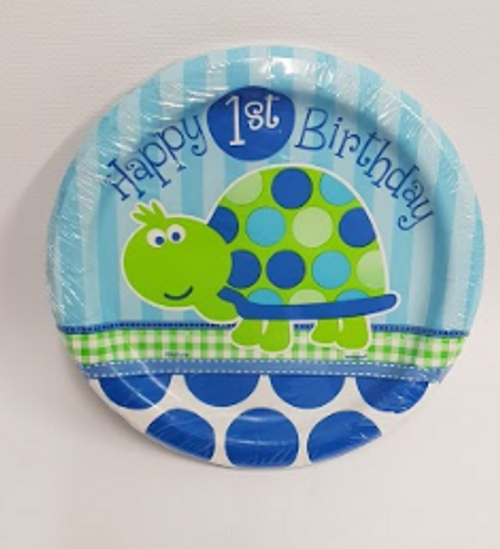Happy 1st Birthday 17.1cm Plate Turtle