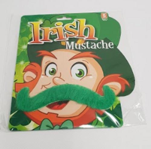 IRISH MOUSTACHE ON COLOUR CARDS, ASSD DESIGNS