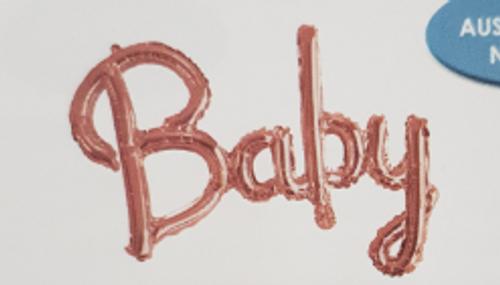 BALN FOIL 58CM BABY ROSEGOLD