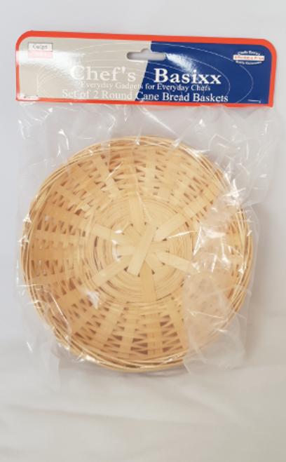 SET 3 BAMBOO BREAD BASKETS - ROUND