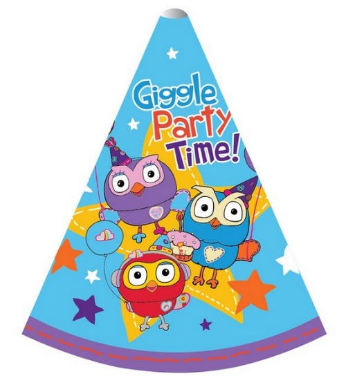 Giggle & Hoot Ppr Cone Hats 6i
