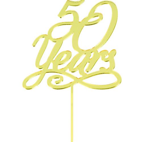 50 Years Anniv Cake Topper