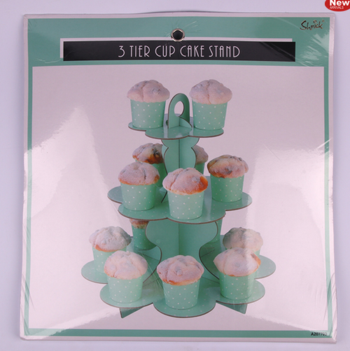 *3 Tier Mint Paper Cake Stand